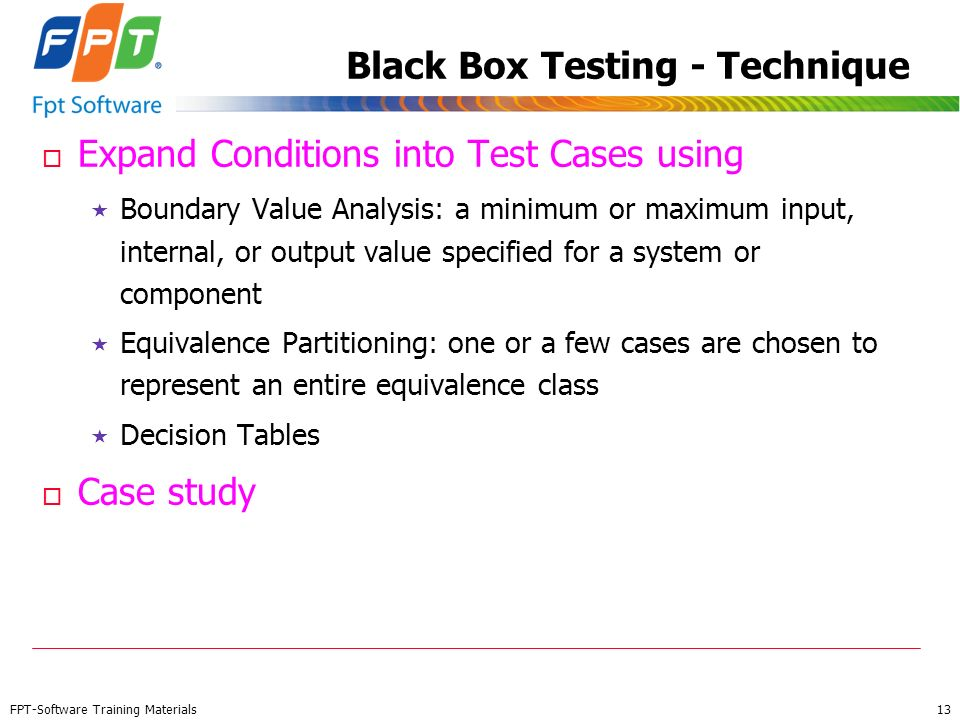 Black Box Testing - Technique