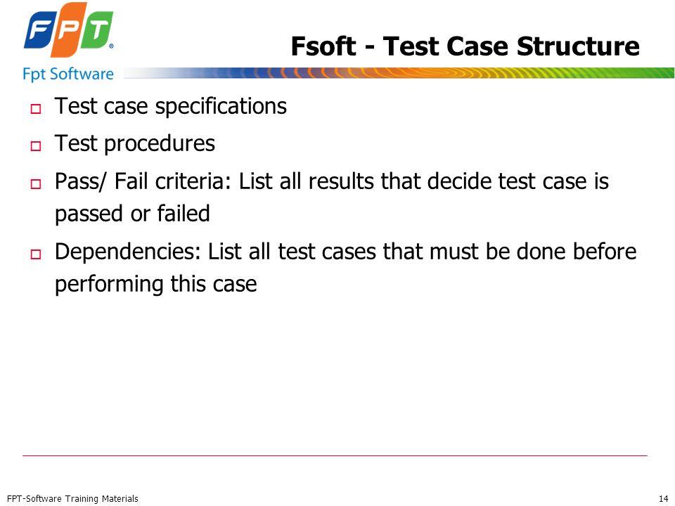 Fsoft - Test Case Structure