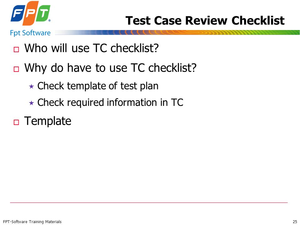 Test Case Review Checklist
