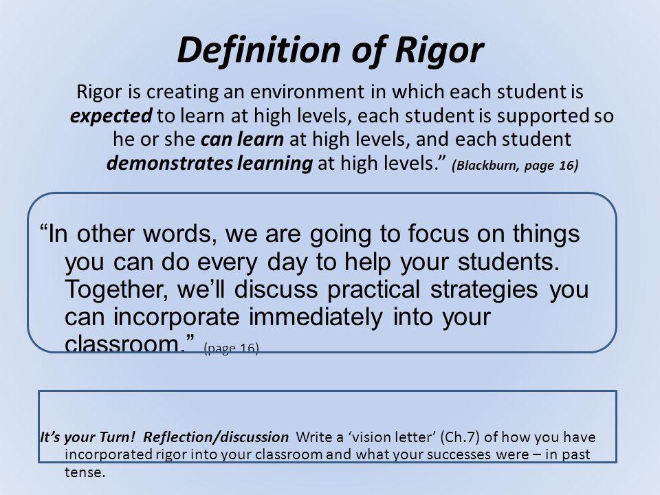Definition of Rigor