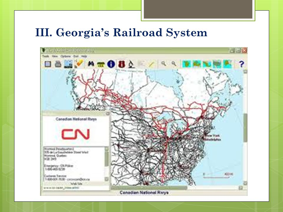 III. Georgia's Railroad System