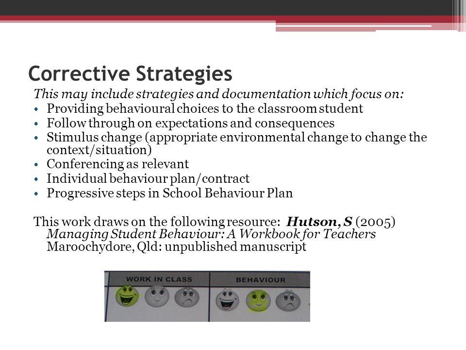 Corrective Strategies