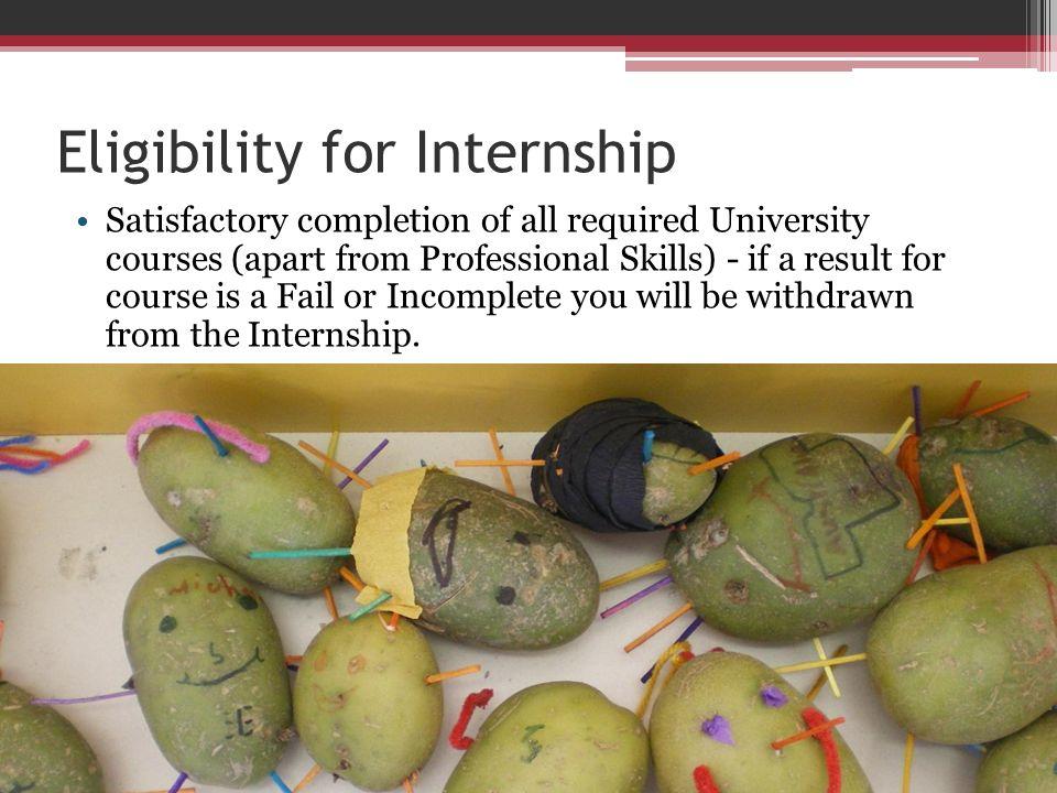 Eligibility for Internship