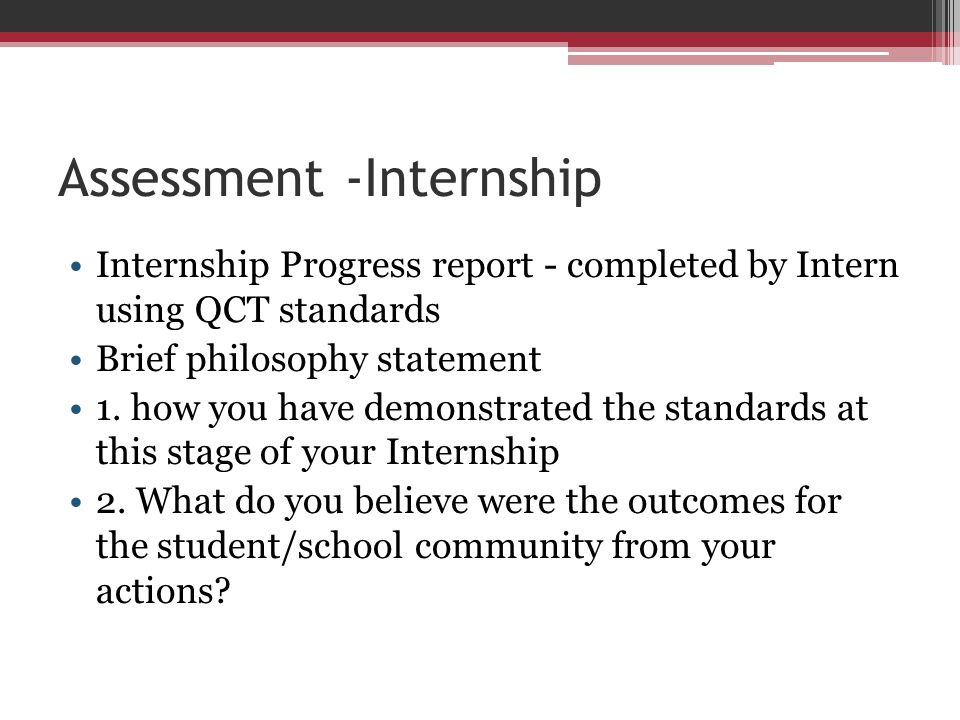 Assessment -Internship