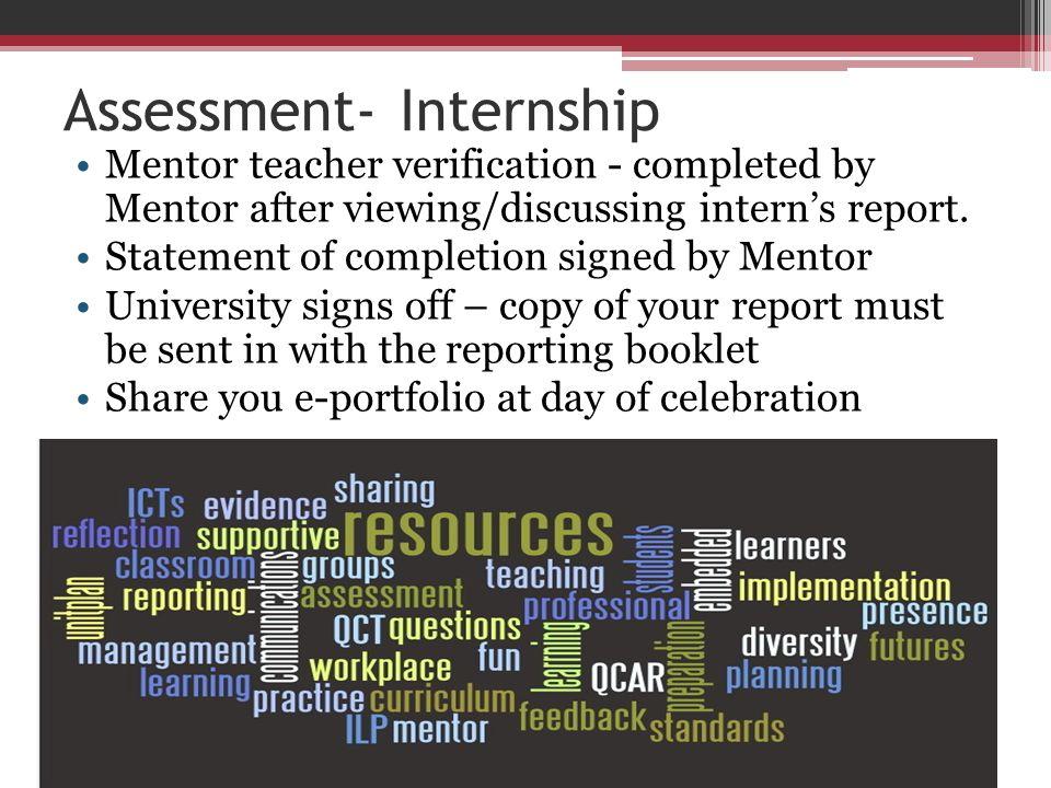 Assessment- Internship