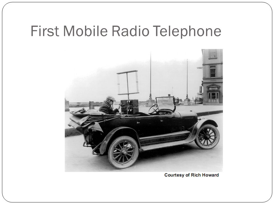 First Mobile Radio Telephone