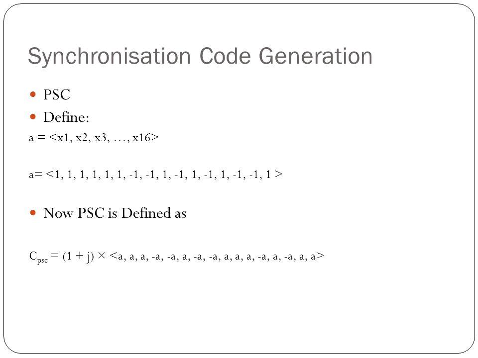 Synchronisation Code Generation