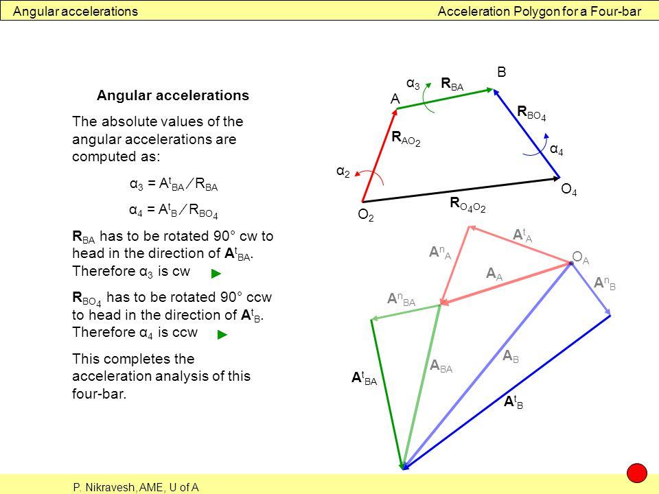 Angular accelerations