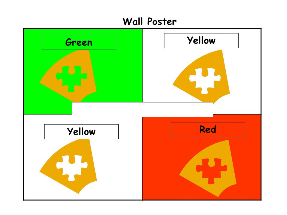 Wall Poster Yellow Green Red Yellow