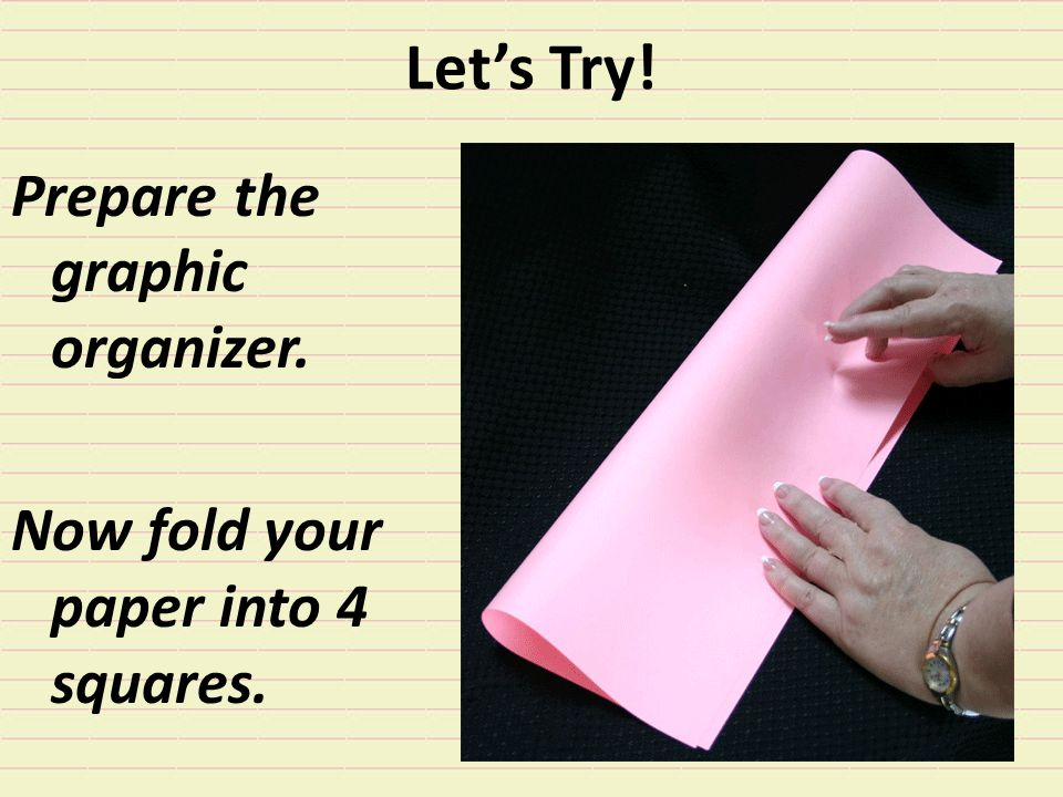 Let's Try! Prepare the graphic organizer.