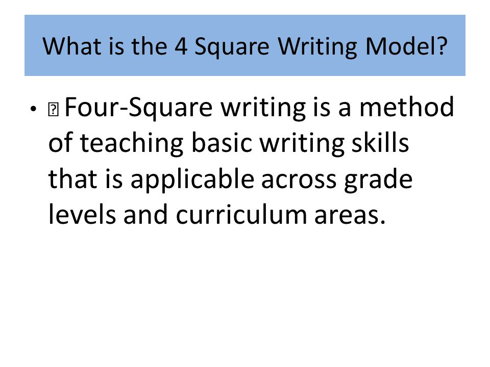 methods of teaching writing skills pdf