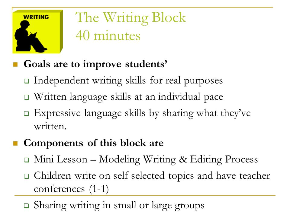 The Writing Block 40 minutes