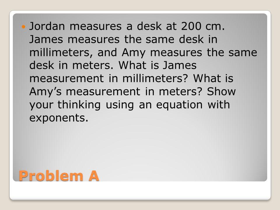 Jordan measures a desk at 200 cm