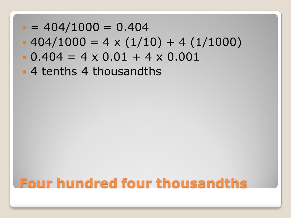 Four hundred four thousandths