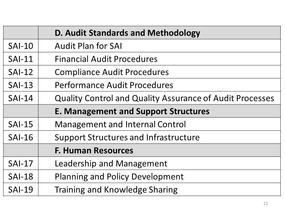 D. Audit Standards and Methodology