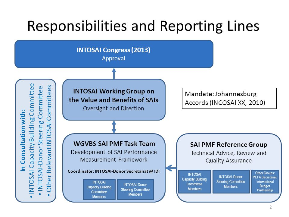 Responsibilities and Reporting Lines
