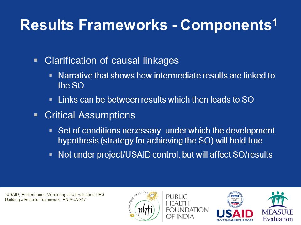 Results Frameworks - Components1