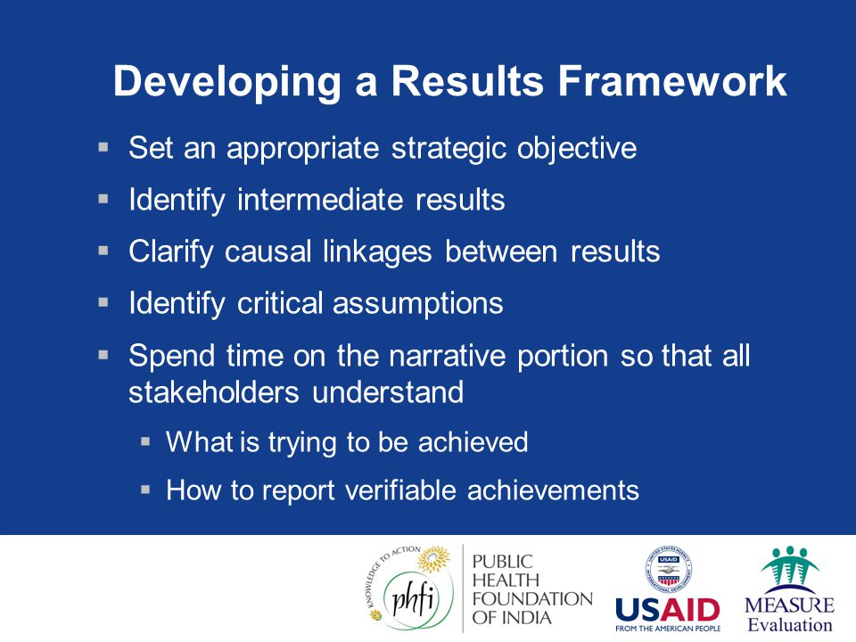 Developing a Results Framework