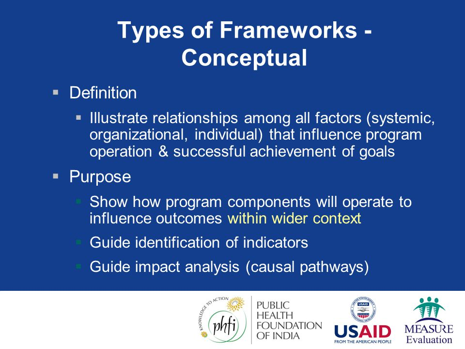 Types of Frameworks - Conceptual