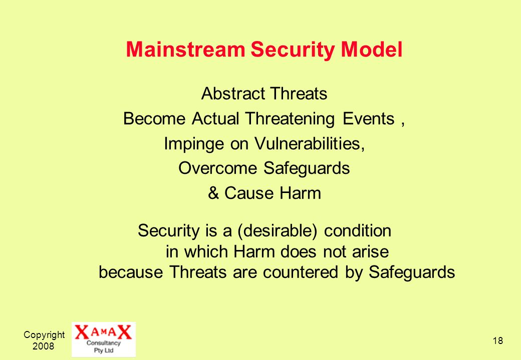 Mainstream Security Model