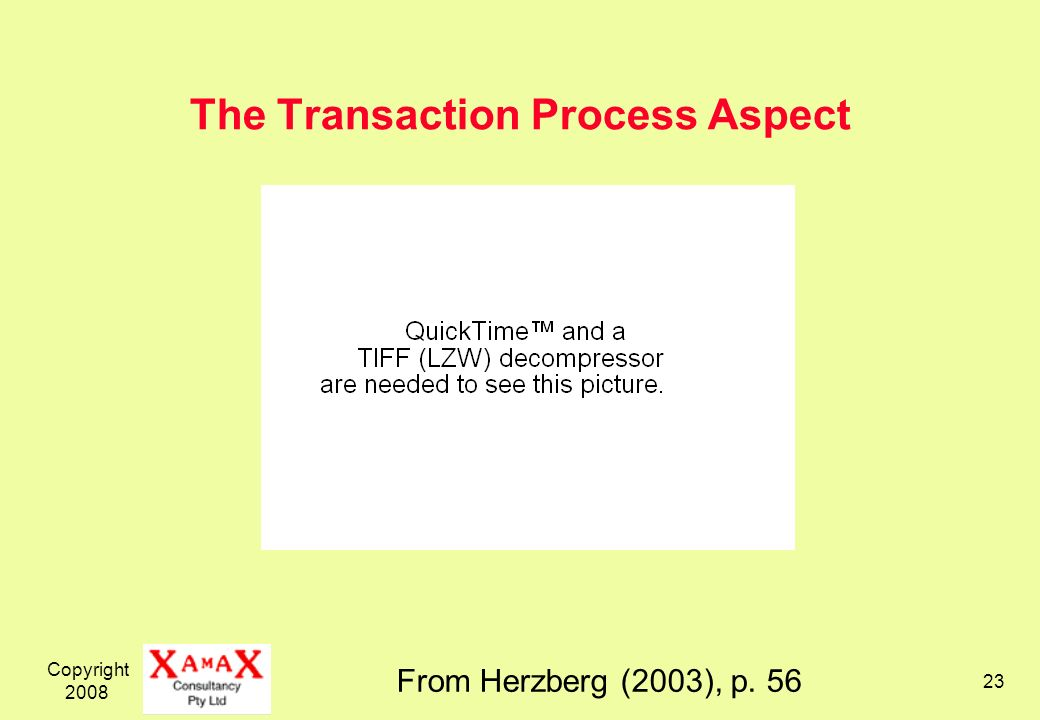 The Transaction Process Aspect