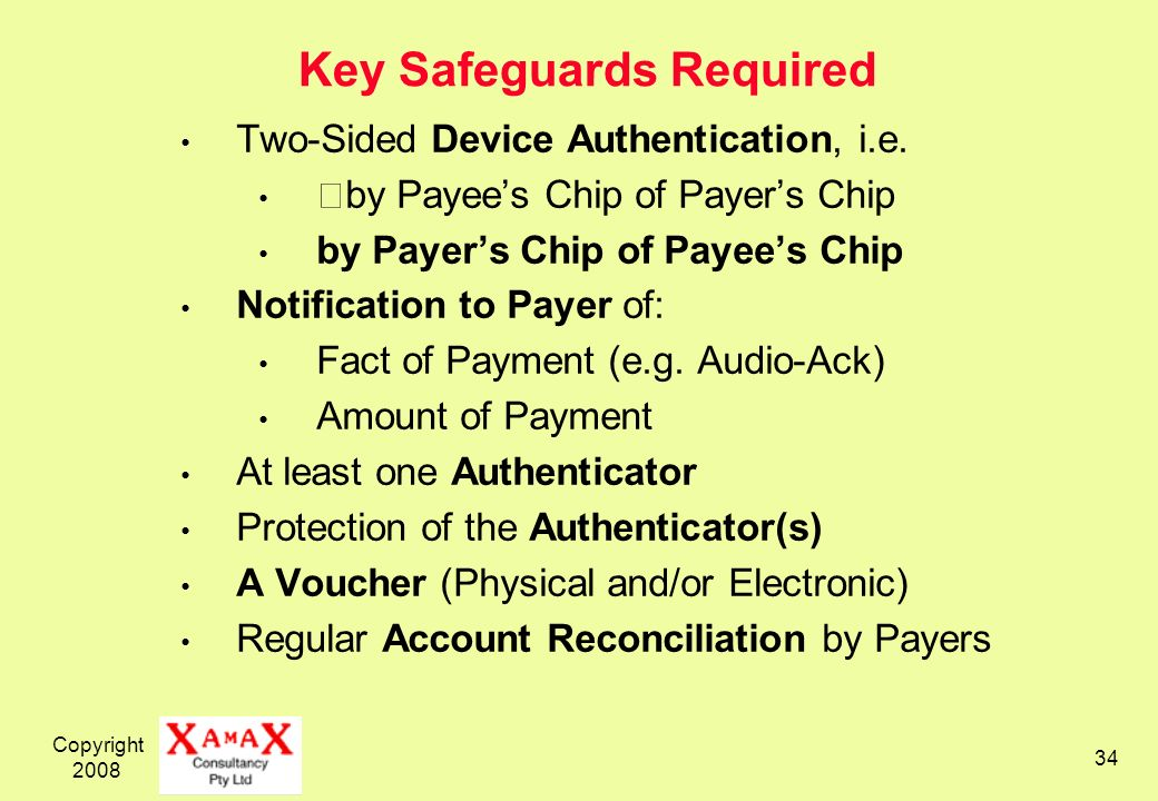 Key Safeguards Required