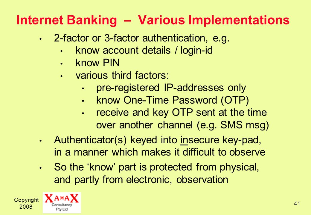 Internet Banking – Various Implementations