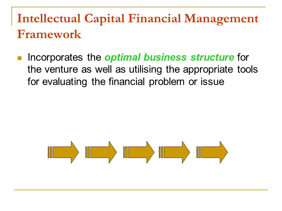 Intellectual Capital Financial Management Framework