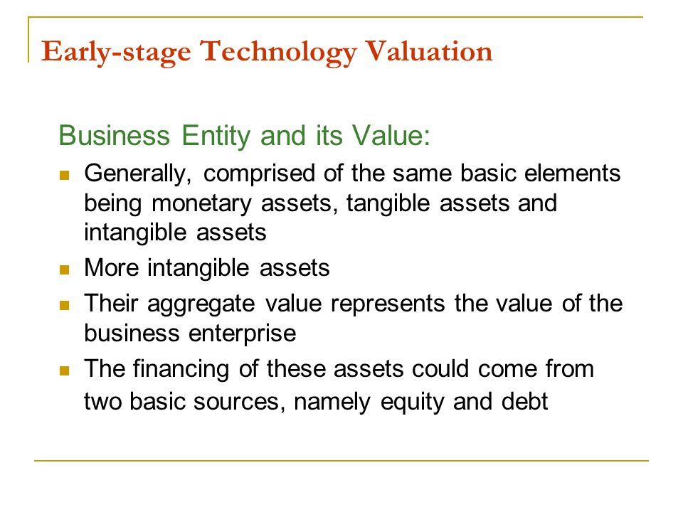 Early-stage Technology Valuation