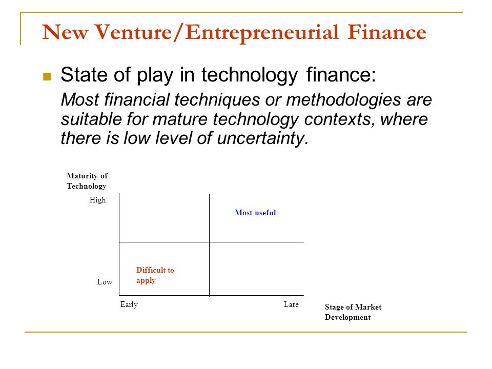 New Venture/Entrepreneurial Finance