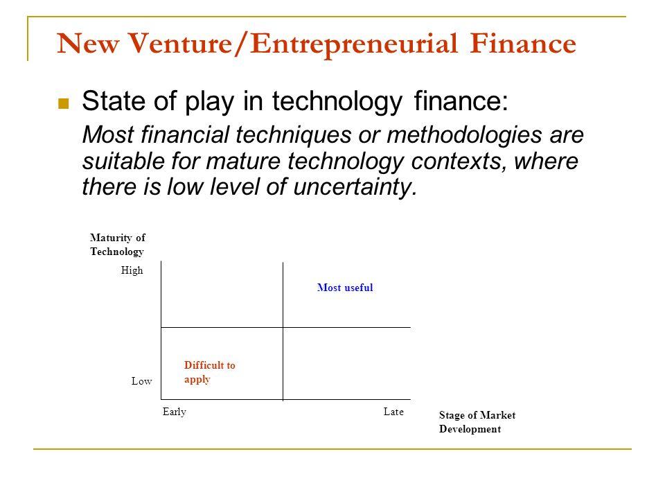 New Venture/Entrepreneurial Finance