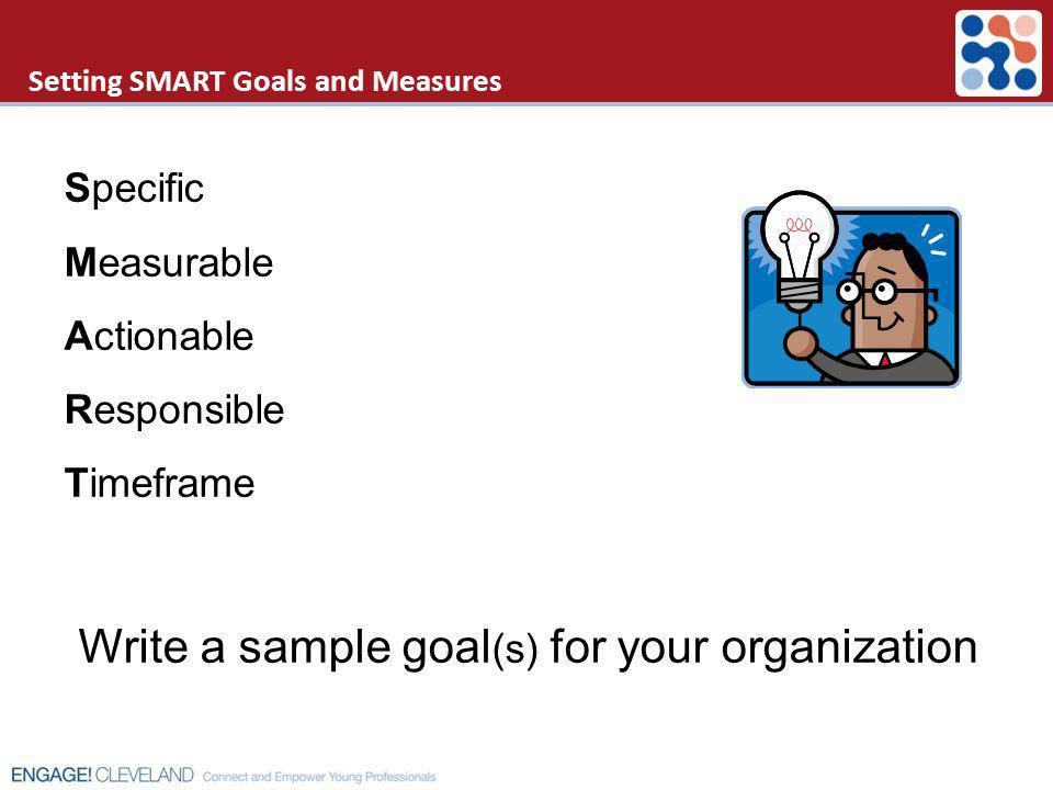 Setting SMART Goals and Measures