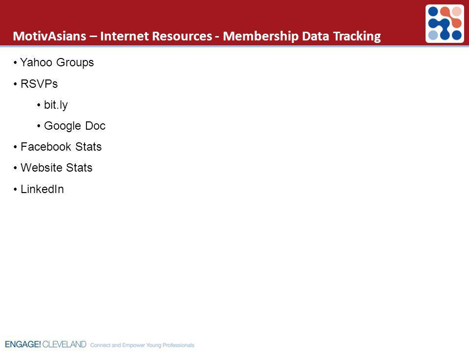 MotivAsians – Internet Resources - Membership Data Tracking