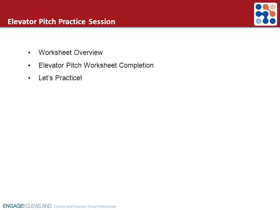 Elevator Pitch Practice Session