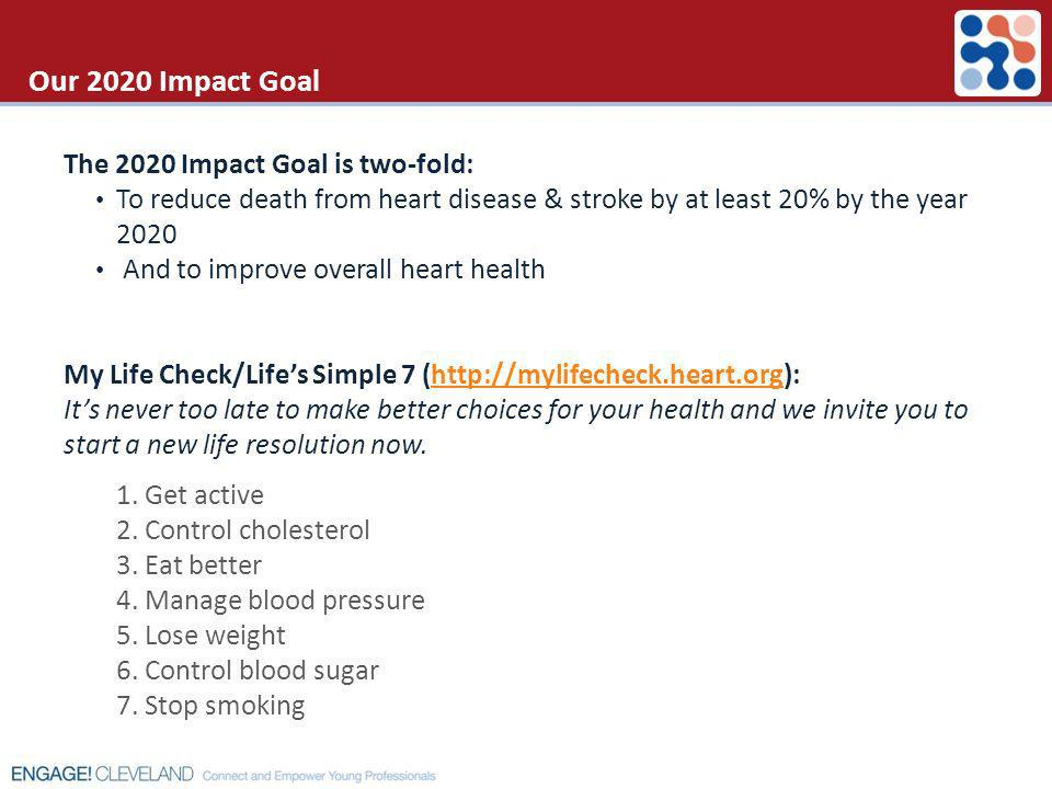 Our 2020 Impact Goal The 2020 Impact Goal is two-fold: