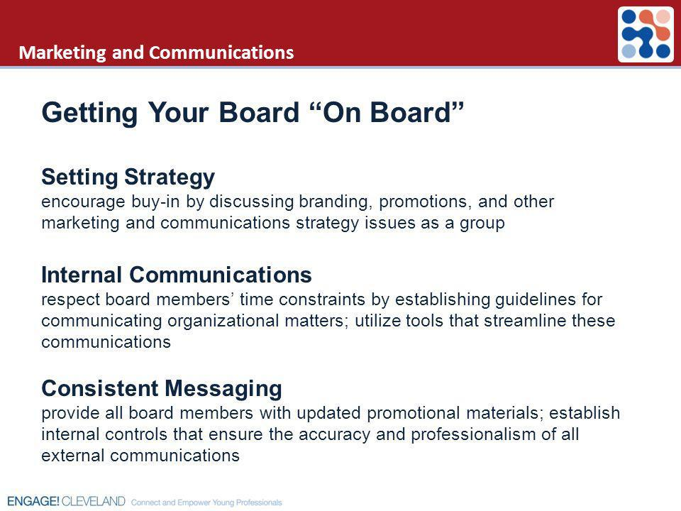 Marketing and Communications