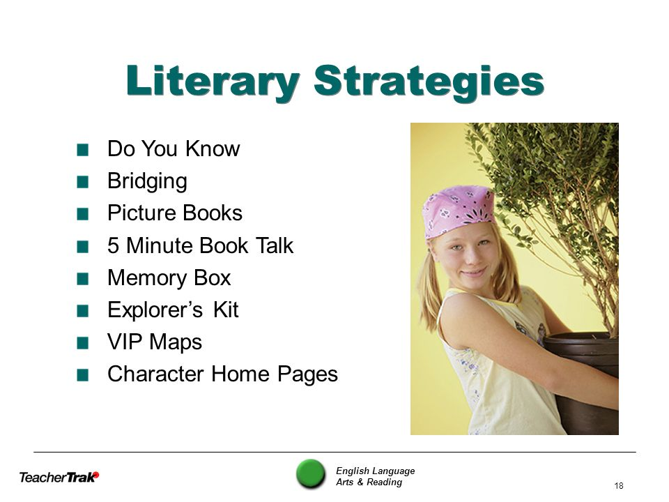 Literary Strategies Do You Know Bridging Picture Books