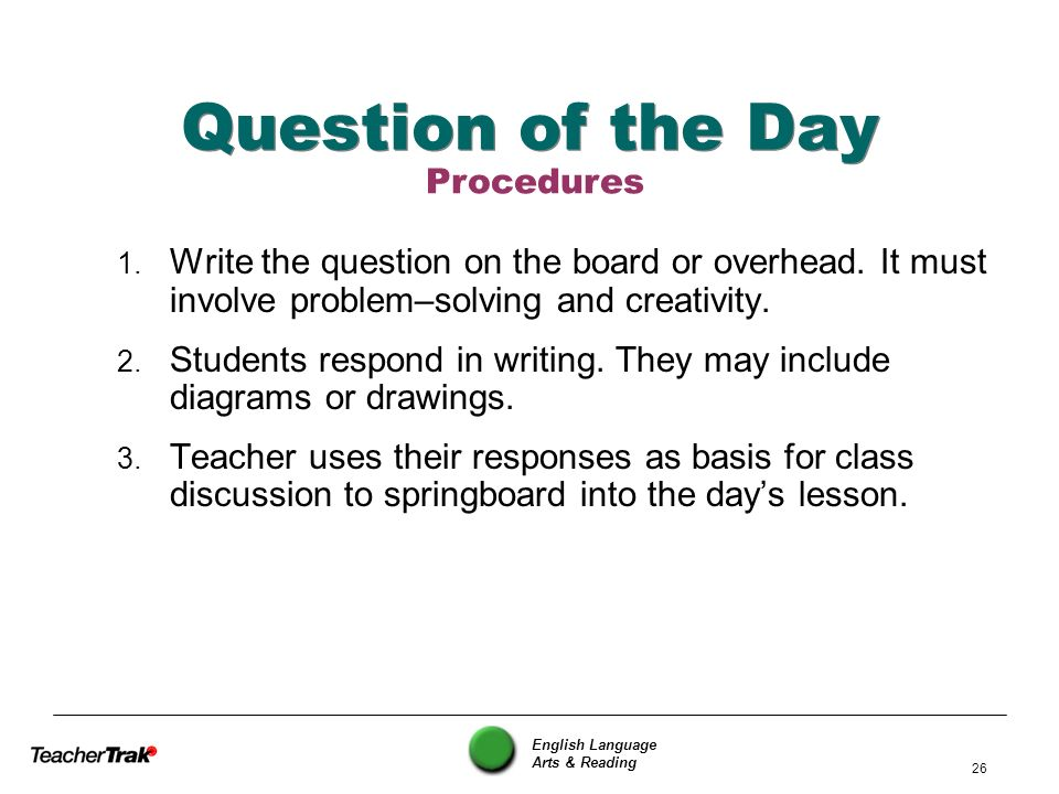 Question of the Day Procedures