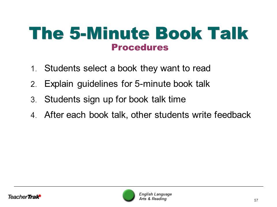 The 5-Minute Book Talk Procedures