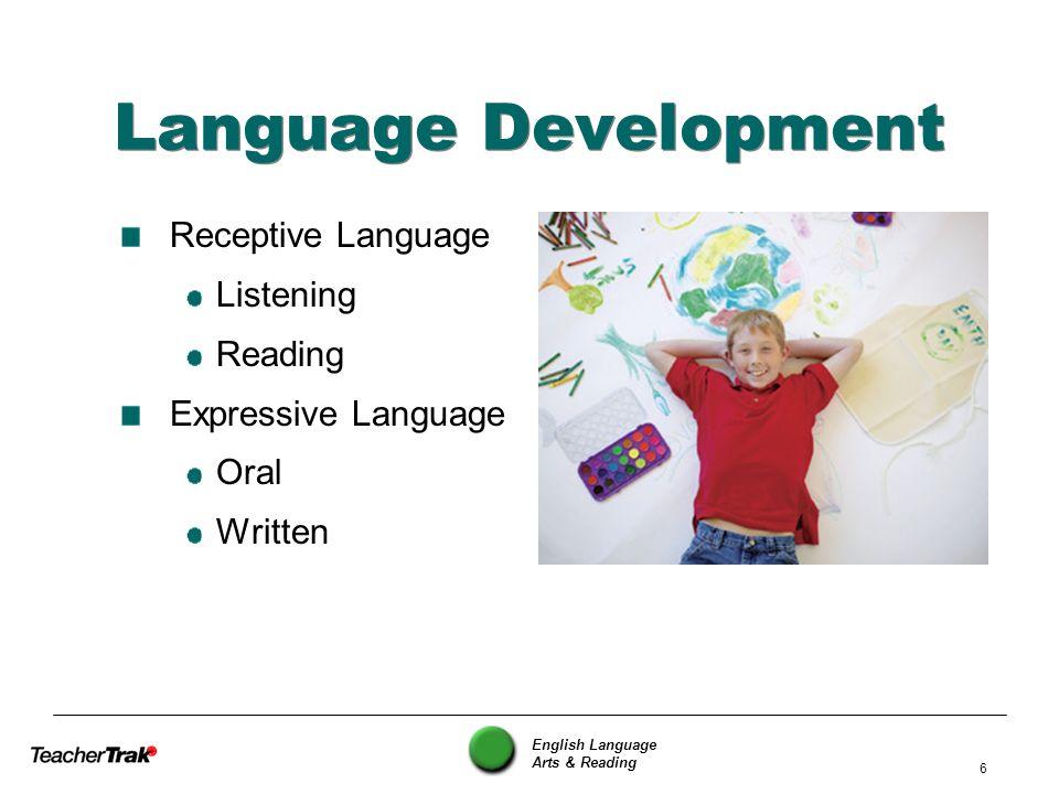 Language Development Receptive Language Listening Reading