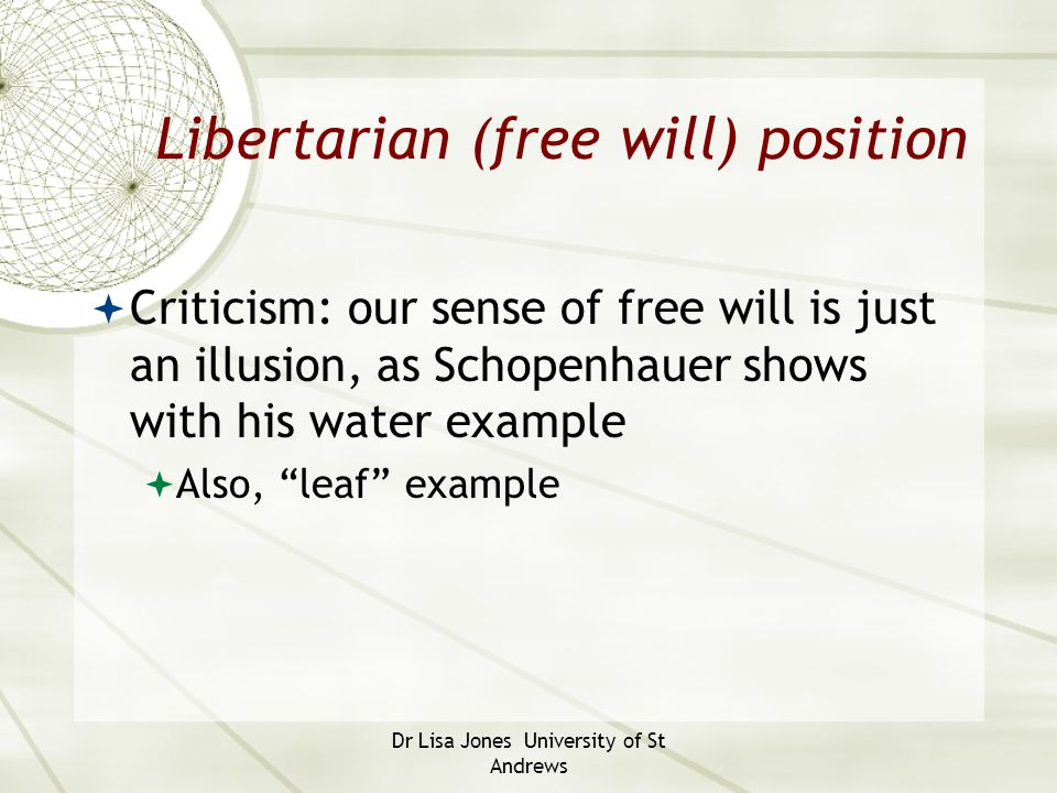 Libertarian (free will) position