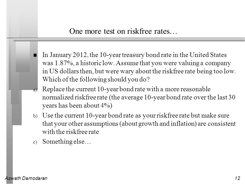 One more test on riskfree rates…