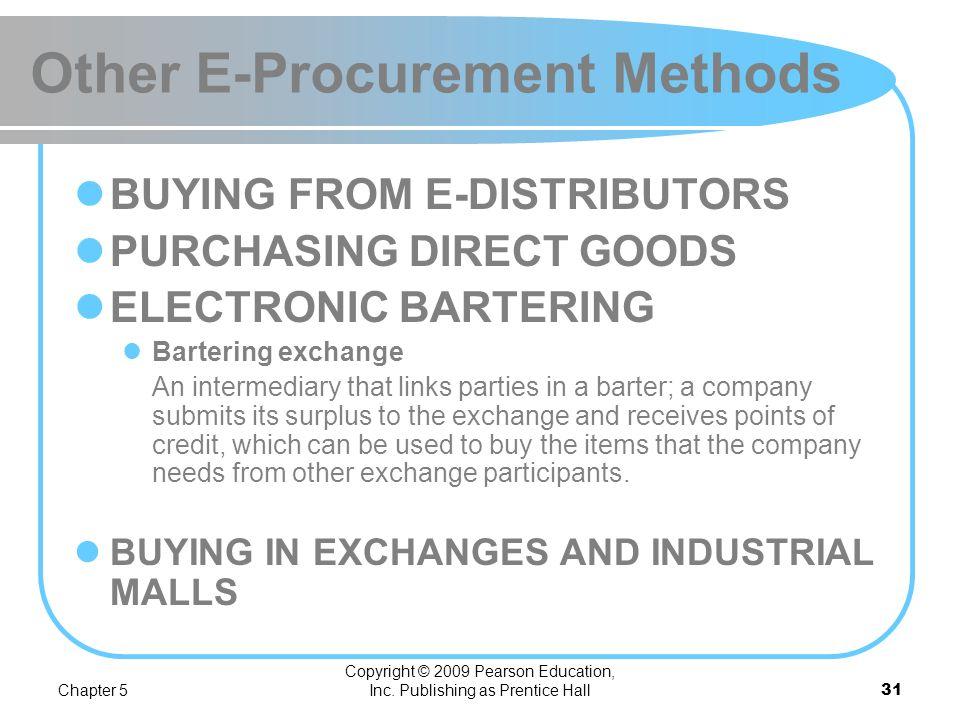 Other E-Procurement Methods