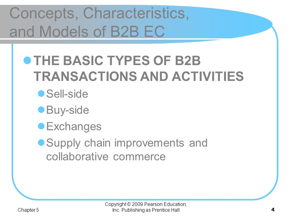 Concepts, Characteristics, and Models of B2B EC