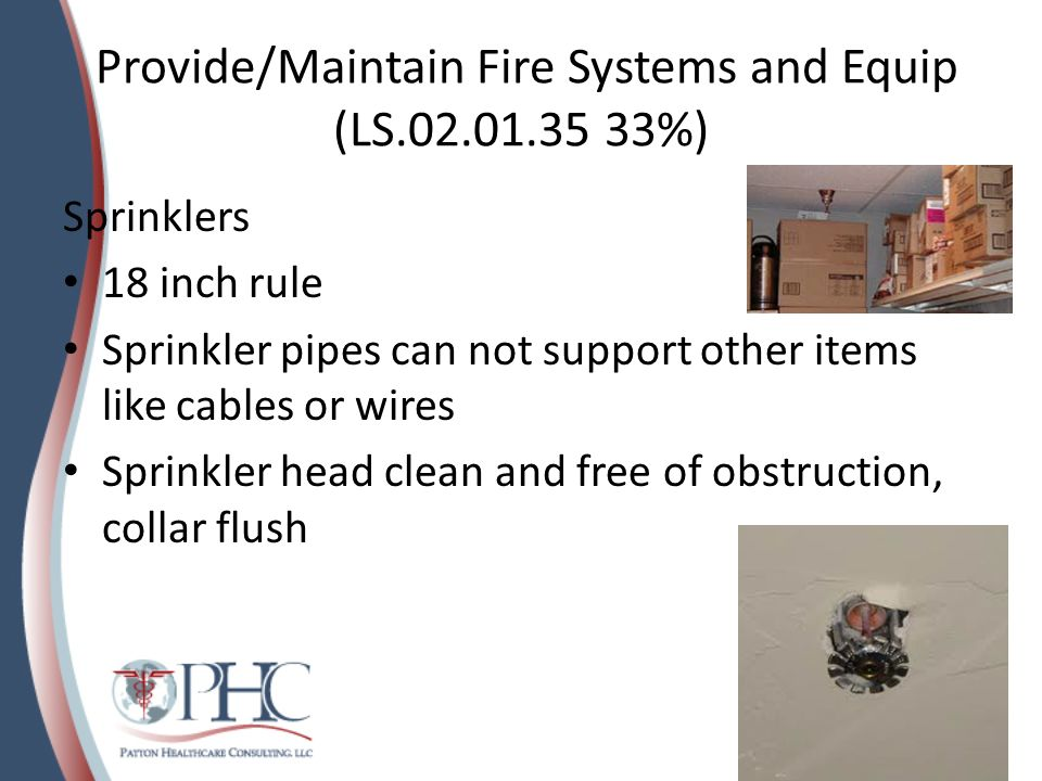 Provide/Maintain Fire Systems and Equip (LS.02.01.35 33%)