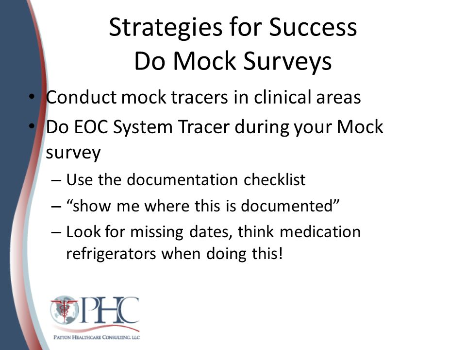 Strategies for Success Do Mock Surveys
