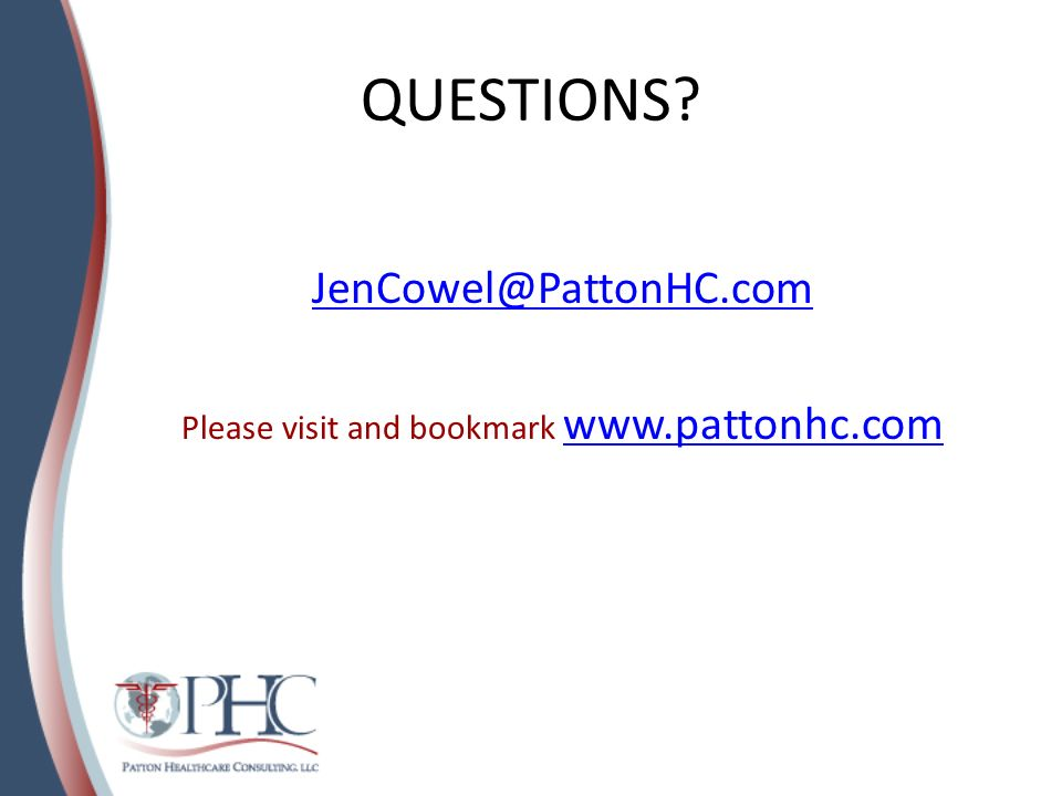 Please visit and bookmark www.pattonhc.com