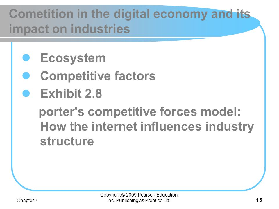 Cometition in the digital economy and its impact on industries