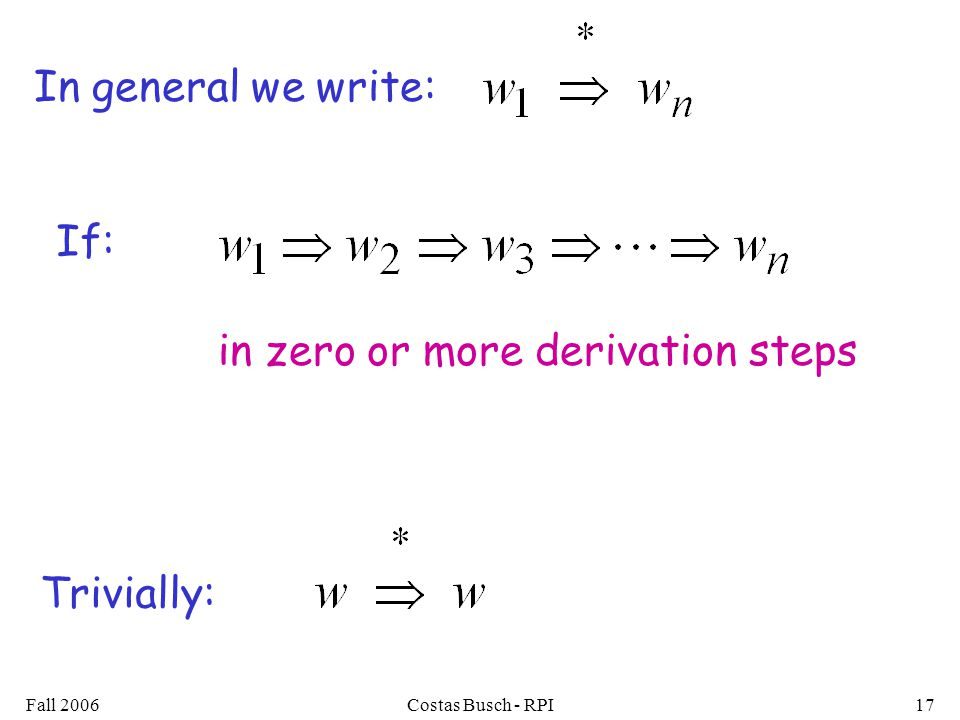 in zero or more derivation steps