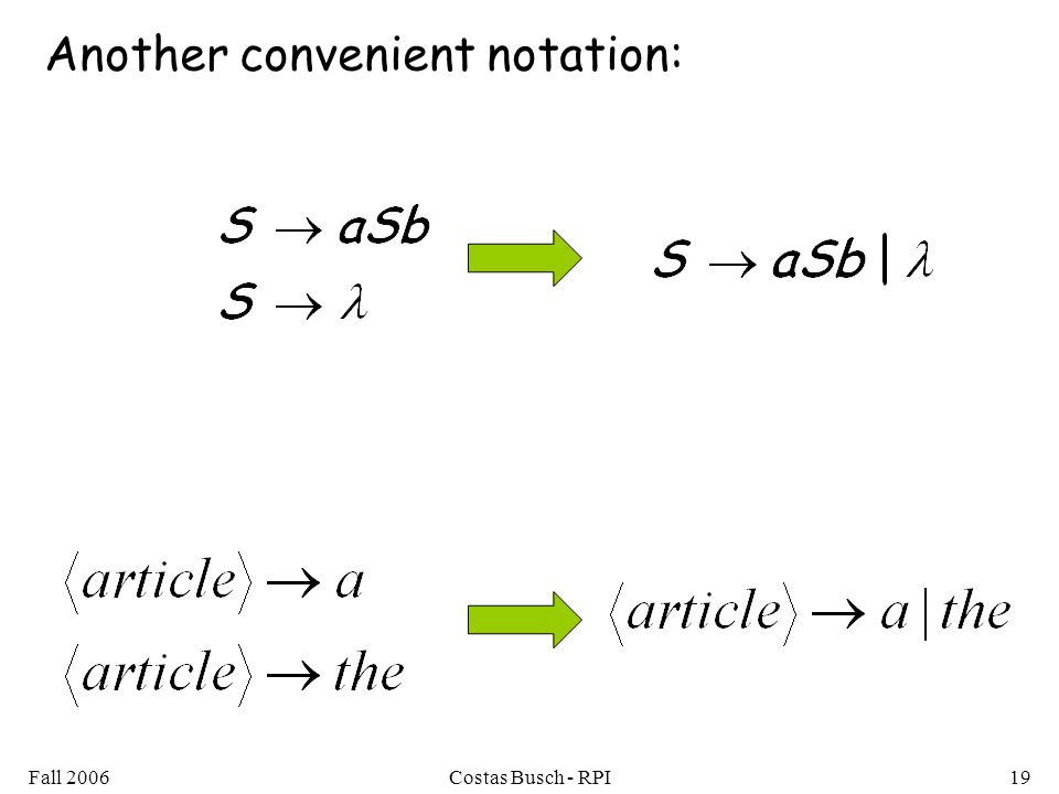 Another convenient notation: